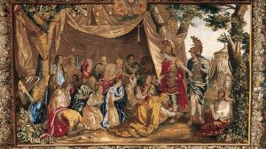 Tapestry of Alexander The Great the the family of Darius