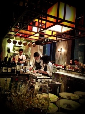 Chefs at work...Plating up with precision... and utmost concentration