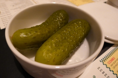 Giant gherkins (complimentary)